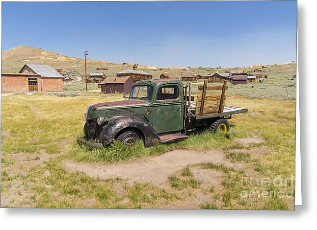 Old Truck At The Ghost Town Of Bodie California Dsc4380 Greeting Card by Wingsdomain Art and Photography