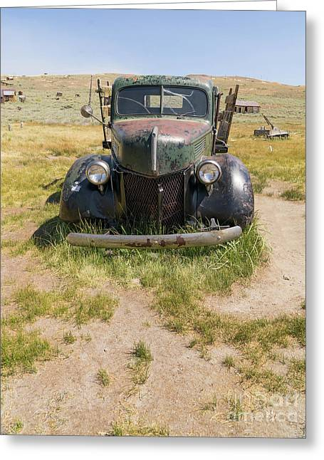 Old Truck At The Ghost Town Of Bodie California Dsc4389 Greeting Card by Wingsdomain Art and Photography