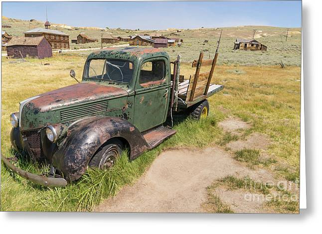 Old Truck At The Ghost Town Of Bodie California Dsc4395 Greeting Card by Wingsdomain Art and Photography