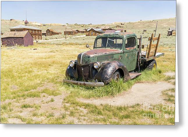 Old Truck At The Ghost Town Of Bodie California Dsc4403 Greeting Card by Wingsdomain Art and Photography