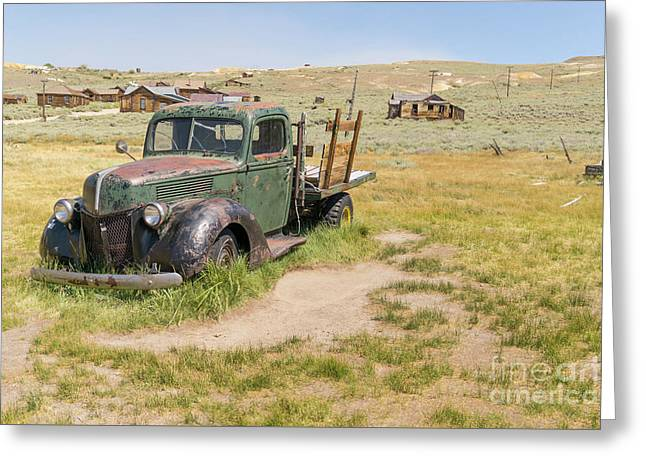Old Truck At The Ghost Town Of Bodie California Dsc4404 Greeting Card by Wingsdomain Art and Photography