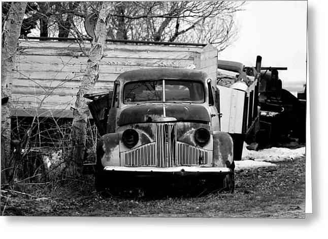 Old Truck Baw Corinth North Dakota Greeting Card by Jeff Swan