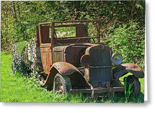 Old Truck II C1002 Greeting Card by Mary Gaines
