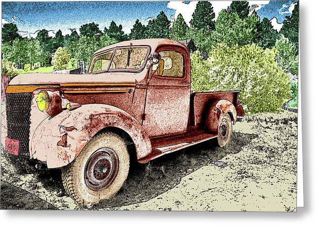 Old Truck Greeting Card by James Steele