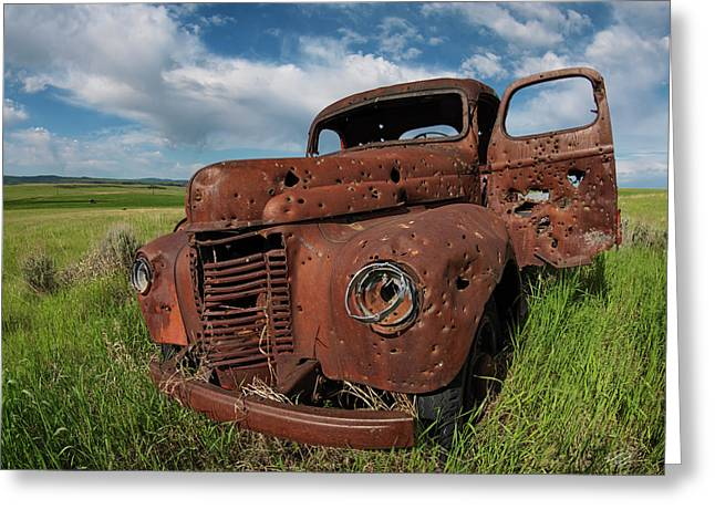 Old Truck Greeting Card by Leland D Howard