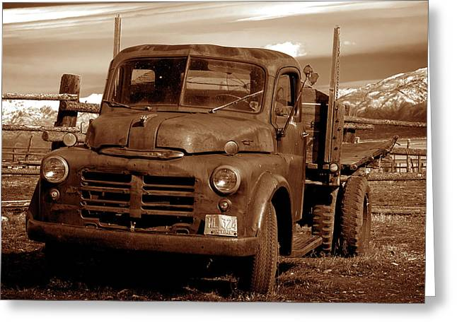 Greeting Card featuring the photograph Old Truck by Norman Hall