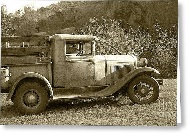 Old Truck On The Mountain Greeting Card by Pete Hellmann