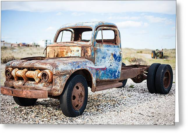 Old Truck Greeting Card by Silvia Bruno
