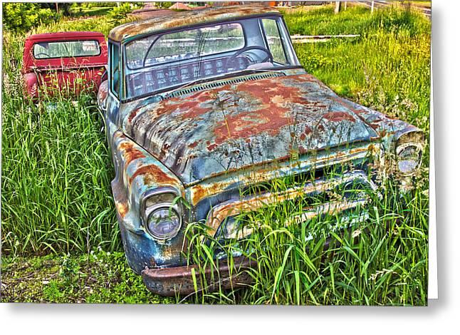 Old Trucks Greeting Card