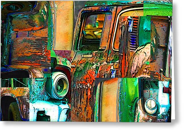 Old Trucks Digital Greeting Cards - Old Trucks Greeting Card by Robert Meanor