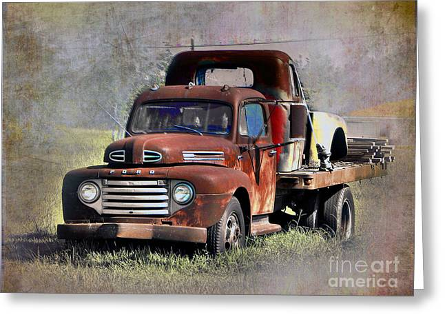 Greeting Card featuring the photograph Old Trucks by Savannah Gibbs