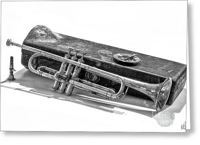 Greeting Card featuring the photograph Old Trumpet by Walt Foegelle