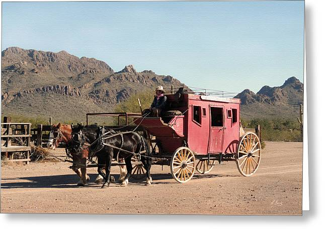 Old Tucson Stage Greeting Card