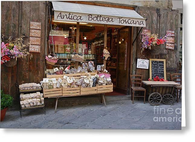 Old Tuscan Deli Greeting Card
