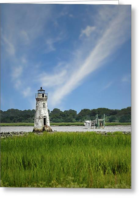 Old Tybee Light - Tybee Island Greeting Card