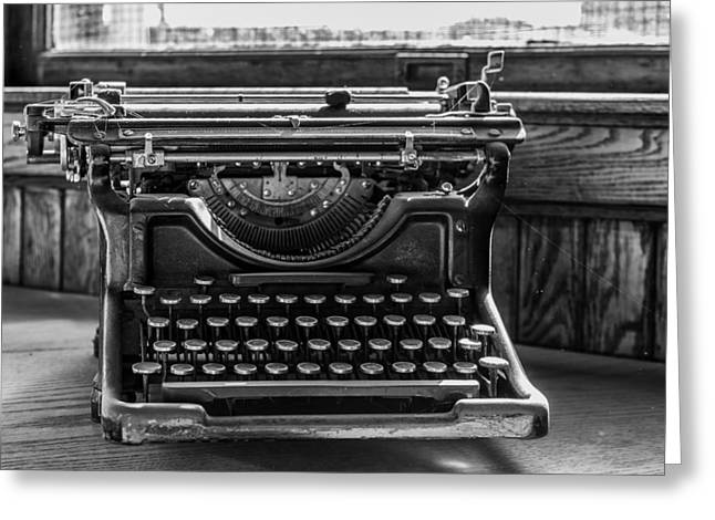 Old Typewriter Greeting Card