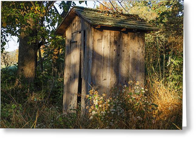 Old Valley Forge Outhouse Greeting Card by Bill Cannon