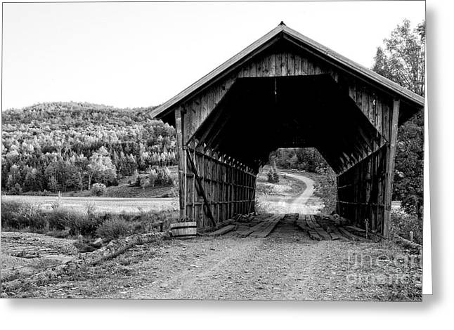 Old Vermont Covered Bridge Greeting Card