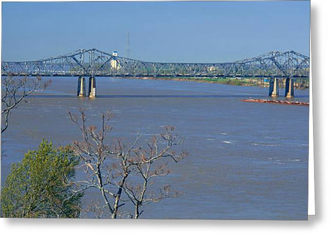 Old Vicksburg Bridge Crossing Ms River Greeting Card by Panoramic Images