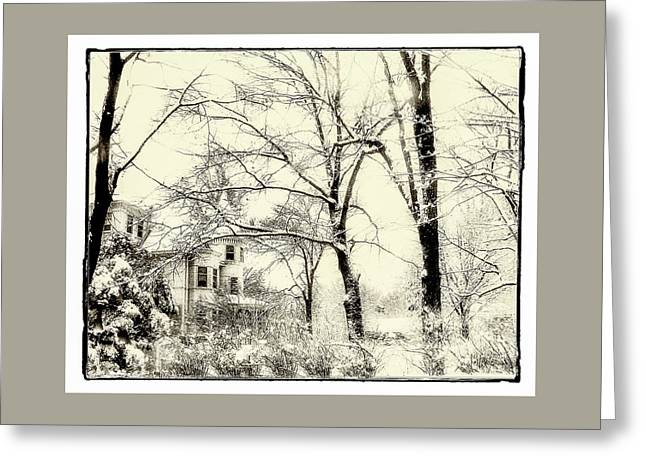 Greeting Card featuring the photograph Old Victorian In Winter by Julie Palencia