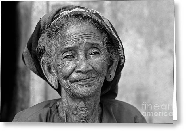 Greeting Card featuring the photograph Old Vietnamese Woman by Silva Wischeropp