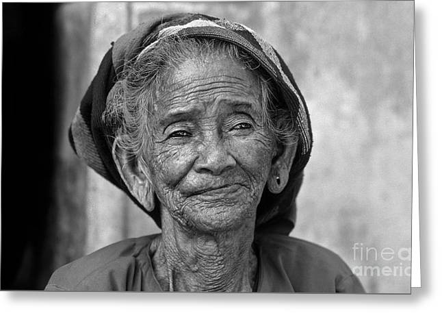 Old Vietnamese Woman Greeting Card
