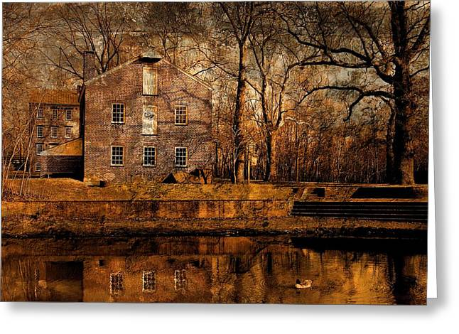 Old Village - Allaire State Park Greeting Card by Angie Tirado