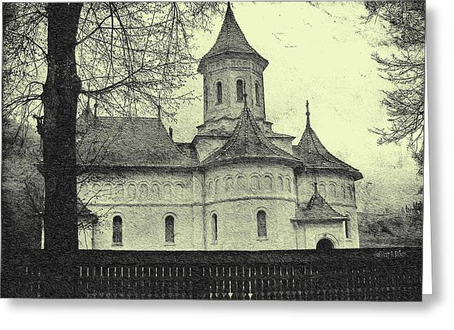 Old Village Church Greeting Card by Jeff Kolker