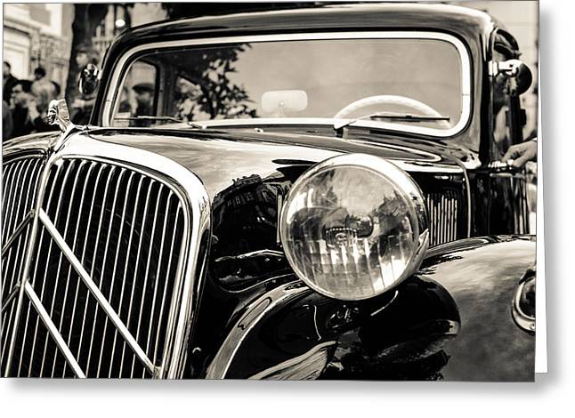 Citroen Traction Avant Greeting Card by Andrea Mazzocchetti