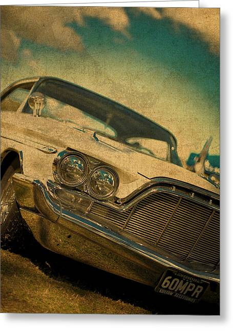 Old Vintage Dodge Desoto Greeting Card by Design Turnpike