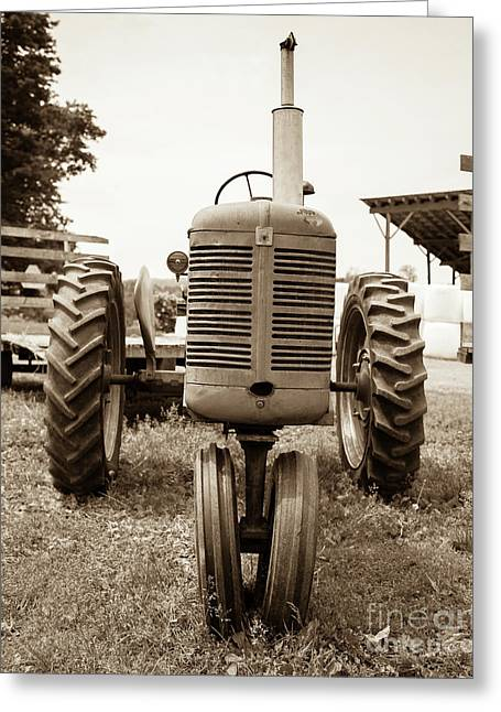 Old Vintage Tractor Cornish New Hampshire Greeting Card by Edward Fielding