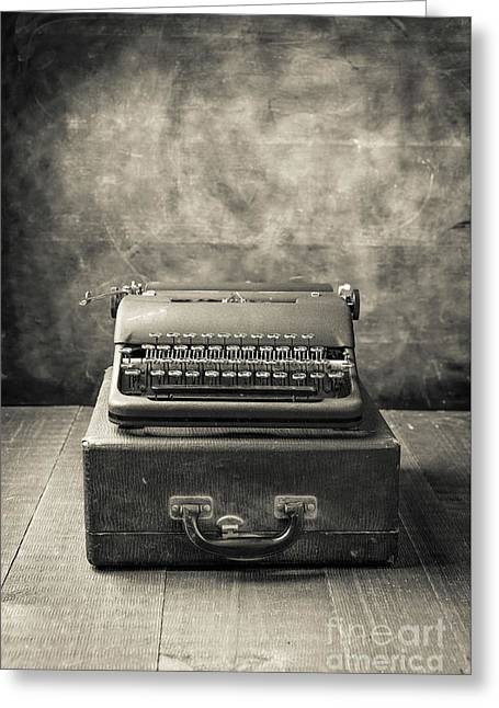 Greeting Card featuring the photograph Old Vintage Typewriter  by Edward Fielding