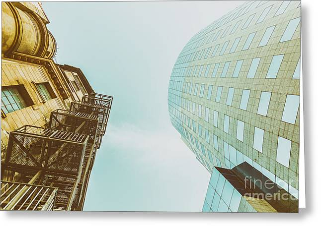 Old Vs New Architecture Greeting Card by Radu Bercan