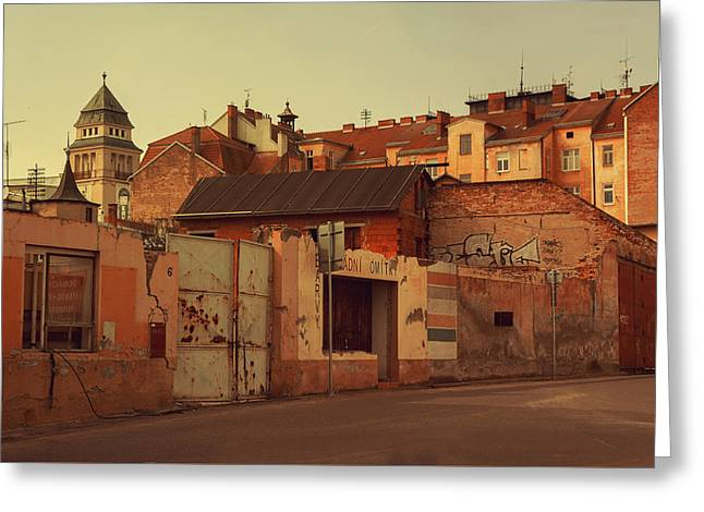 Old Walls Of Znojmo Greeting Card by Jenny Rainbow