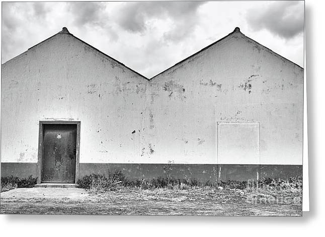 Old Warehouse Exterior Greeting Card