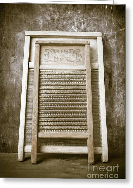 Old Washboards Greeting Card by Edward Fielding