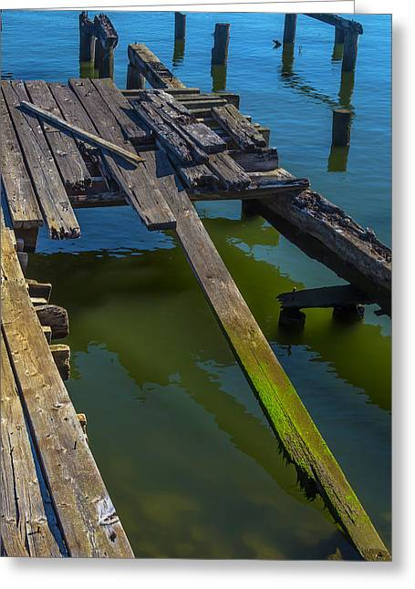 Old Weathered Dock Greeting Card by Garry Gay