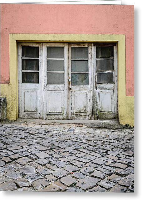 Old Weathered Door Greeting Card by Marco Oliveira
