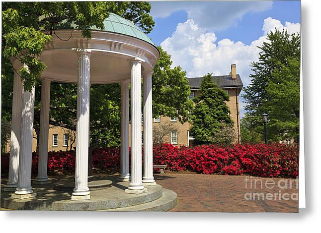 Old Well At Chapel Hill In Spring Greeting Card