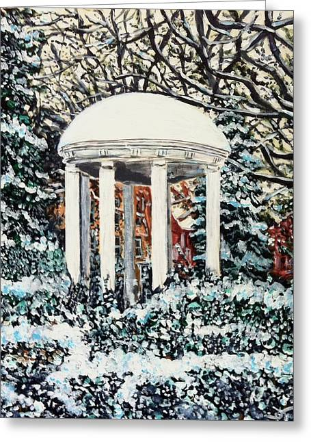 Greeting Card featuring the painting Old Well Winter by Joel Tesch