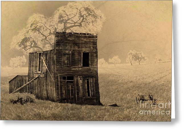 Old West Building Greeting Card by Ronald Hoggard