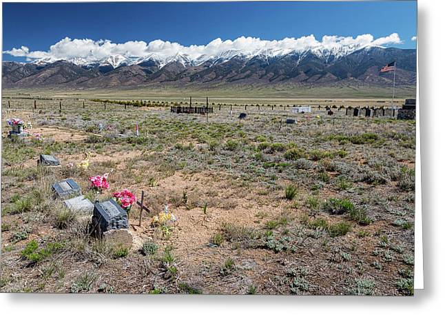 Old West Rocky Mountain Cemetery View Greeting Card by James BO Insogna