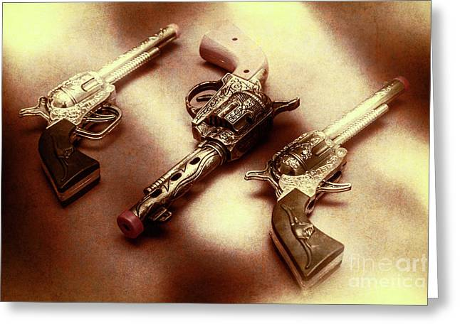 Old Western At Play Greeting Card by Jorgo Photography - Wall Art Gallery