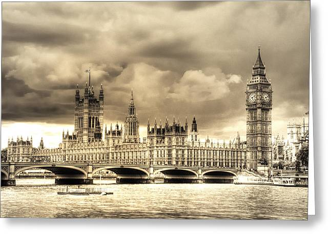 Old Westminster In London Greeting Card by Vicki Jauron