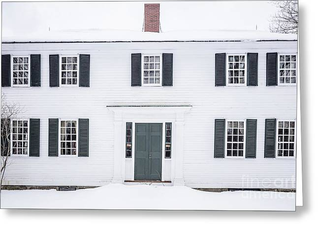 Greeting Card featuring the photograph Old White Colonial House Muster Field Farm  by Edward Fielding