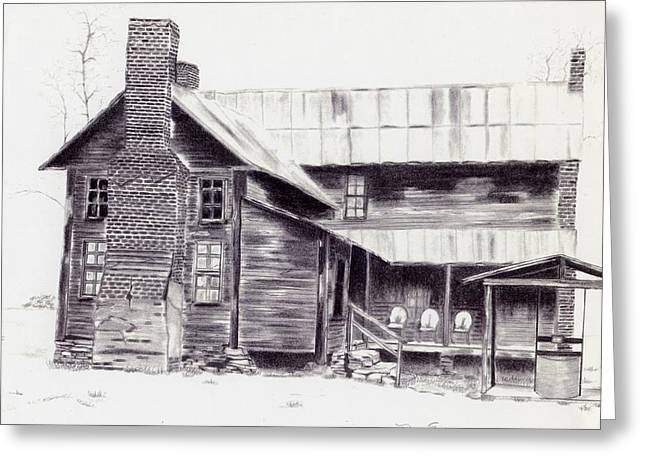 Old Willard Home Greeting Card by Penny Everhart