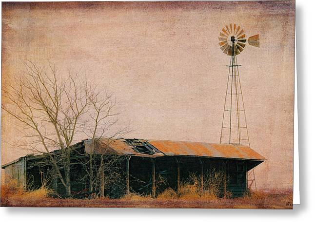 Old Windmill And Outbuilding Greeting Card by Anna Louise