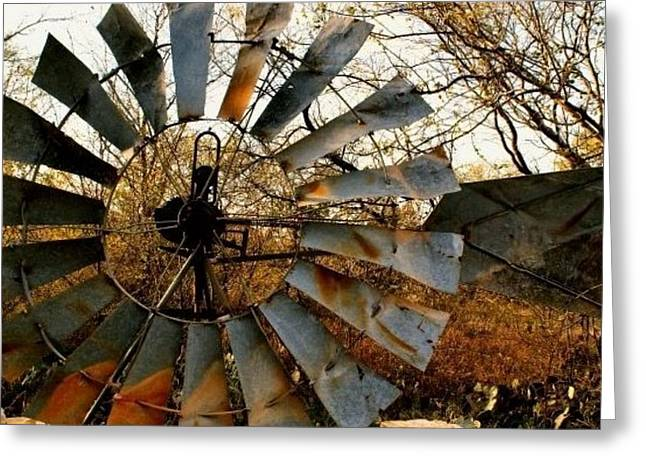 Old Windmill Greeting Card by Fred Wilson