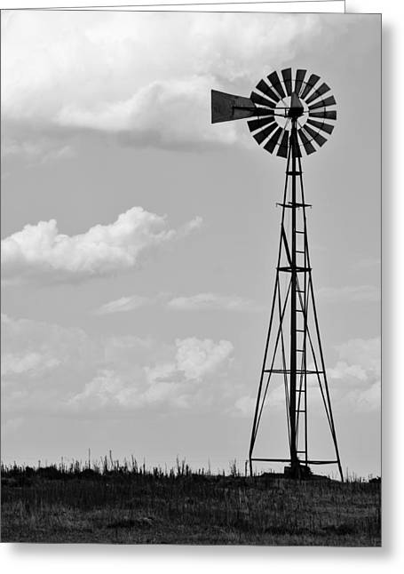 American Country Art Greeting Cards - Old Windmill II Greeting Card by Ricky Barnard