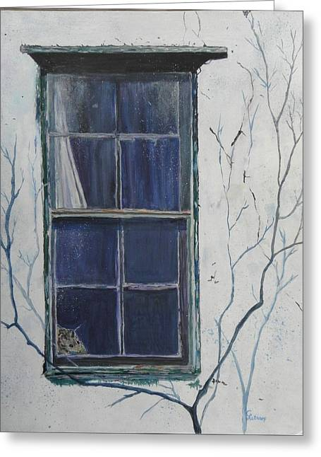 Old Window 2 Greeting Card
